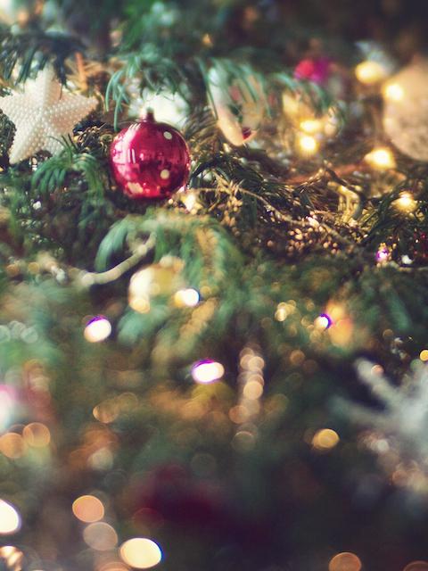 christmas bokeh ornaments