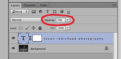 don't forget to adjust opacity, color and location to suit your image.