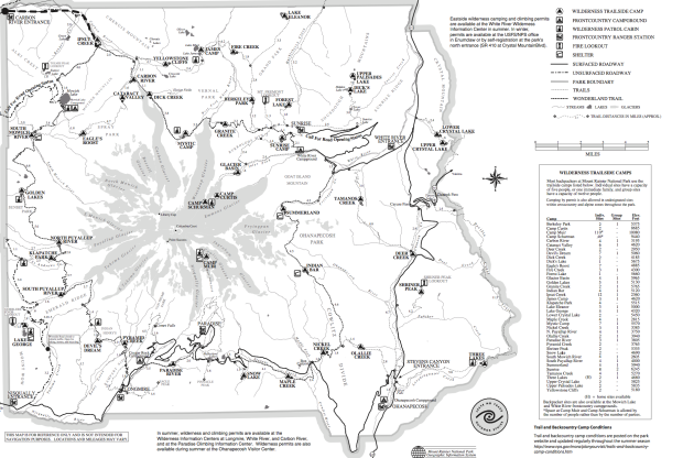 Mount Rainier Trail Map