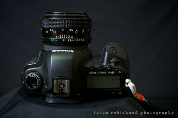 FD 55mm f/1.2 on Canon EOS 5D Mark 2