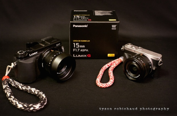 Leica 15mm f/1.7 with and without hood GX7 GM1