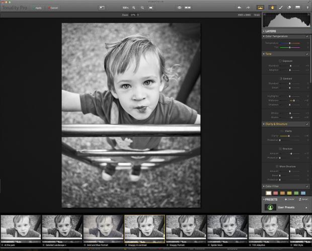 macphun tonality pro screenshot interface