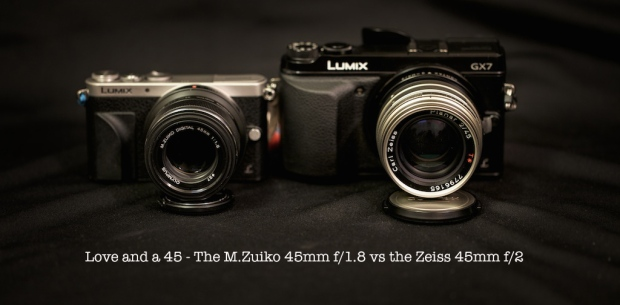 olympus m.zuiko 45mm f/1.8 vs contax zeiss 45mm f/2 planar