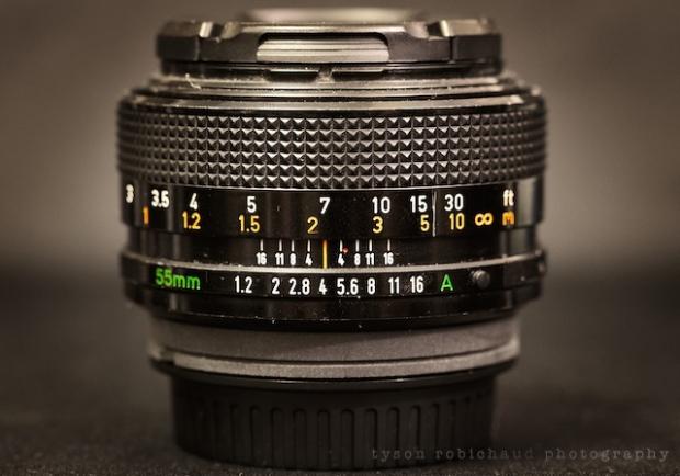 manual lens fd55mm f/1.2 ssc
