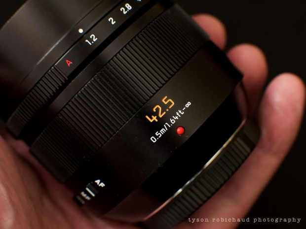 Leica Nocticron in hand