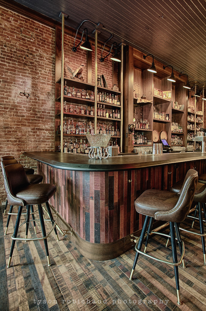 Wonderful House Bars decoration home basement bar design idea with wooden bar table and three stools units between The Bit House Has Found A Way To Keep Its Soul Intact And Has Grown Into An Older More Mature Version Of Itself Driven By The Team At The Elk Collective