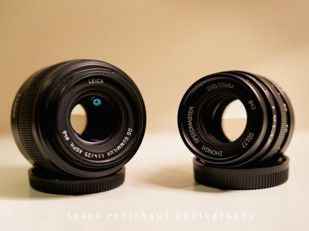 Leica 25mm f/1.4 vs Speedmaster 25mm f/0.95